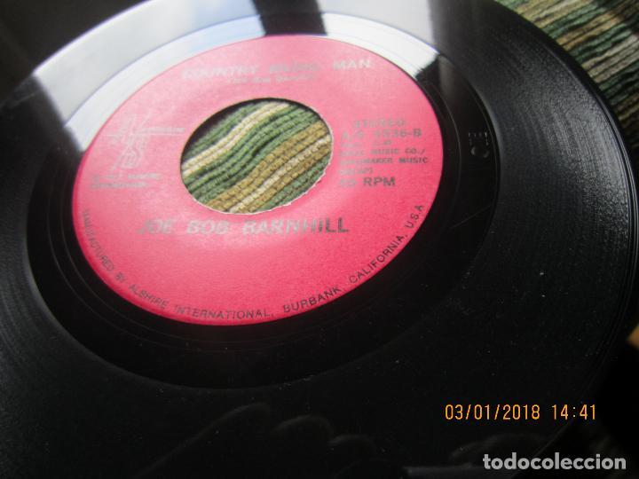 Discos de vinilo: JOE BOB BARNHILL - BABY LOVED ME / COUNTRY MUSIC MAN - SINGLE - ORIGINAL USA A/S 1972 STEREO - Foto 5 - 108245655