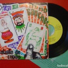 Discos de vinilo: NINO SANCHEZ CABALLO DE COPAS / OLVIDAR SINGLE PRIVADO NINOS 1976 + INSERTO PROMOCIONAL. Lote 108251599