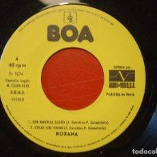 Discos de vinilo: ROXANA CON AMERICA SUEÑO + 3 EP 45 AUDIO / VIDEO PROMOCIONAL 1975. Lote 108251747