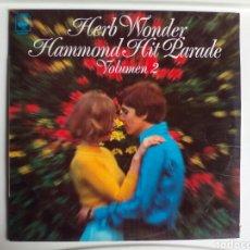 Discos de vinilo: LP HERB WONDER. HAMMOND HIT PARADE. VOLUMEN 2.. Lote 108306631