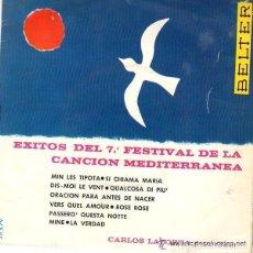 Discos de vinilo: CARLOS LAPORTA Y SU RITMO– EXITOS DEL 7.º FESTIVAL DE LA CANCIÓN MEDITERRÁNEA - EP BELTER 1965. Lote 108308767