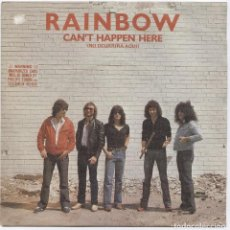Discos de vinilo: RAINBOW_NO OCURRIRA AQUI_VINILO SINGLE 7'' EDICIÓN ESPAÑOLA_1981 COMO NUEVO!!!. Lote 108360931
