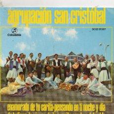 Discos de vinilo: FOLKLORE CANARIO - AGRUPACIÓN SAN CRISTOBAL -EP 1970 - LEA DENTRO TEMAS. Lote 108364587