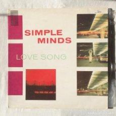 Discos de vinilo: SIMPLE MINDS / LOVE SONG 1981 AUSTRALIA. Lote 108371539