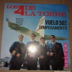 Discos de vinilo: LOS 4 DE LA TORRE - VUELO 502. Lote 108372079