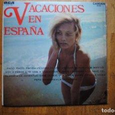 Discos de vinilo: VACACIONES EN ESPAÑA. RCA CAMDEN 1970. LP. SEXY COVER. Lote 108382155