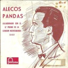 Discos de vinilo: ALECOS PANDAS / RENA VLAHOPOULOU - II PREMIO DEL FESTIVAL DE LA CANCIÓN MEDITERRÁNEA 1960 . Lote 108383779