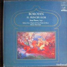 Discos de vinilo: LP - BORODIN - EL PRINCIPE IGOR (CAJA CON 4 LP'S Y LIBRETO, SPAIN, DISCOS MELODIA 1974). Lote 108387627
