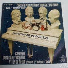 Discos de vinilo: SINGLE WALDO DE LOS RÍOS. CONCIERTO PARA PIANO Y ORQUESTA.. Lote 108387727