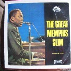 Discos de vinilo: LP - MEMPHIS SLIM - THE GREAT MEMPHIS SLIM (SPAIN, AMERICA RECORDS 1969). Lote 108390231