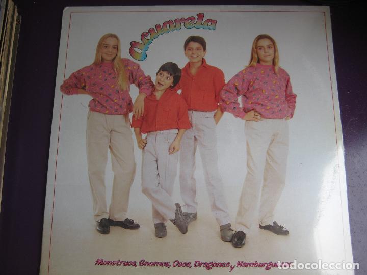ACUARELA LP MASA 1985 - MONSTRUOS, GNOMOS, OSOS, DRAGONES Y HAMBURGUESAS - TVE TELEVISION - PARCHIS (Música - Discos - LPs Vinilo - Música Infantil)