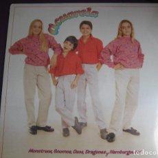 Discos de vinilo: ACUARELA LP MASA 1985 - MONSTRUOS, GNOMOS, OSOS, DRAGONES Y HAMBURGUESAS - TVE TELEVISION - PARCHIS. Lote 108407659