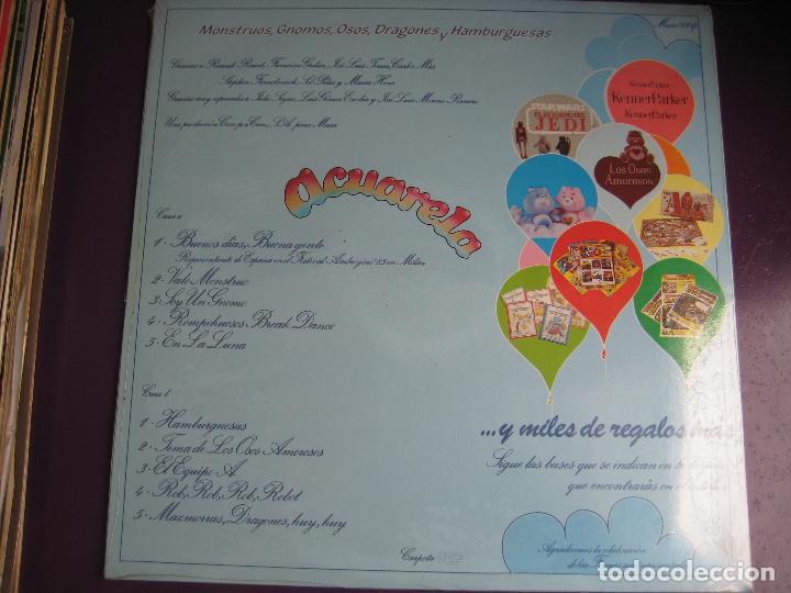 Discos de vinilo: ACUARELA LP MASA 1985 - monstruos, gnomos, osos, dragones y hamburguesas - tve television - parchis - Foto 2 - 108407659