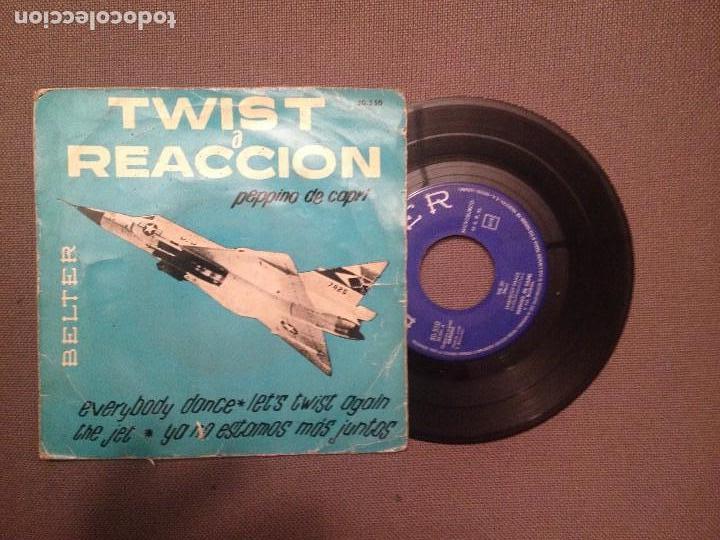 PEPPINO DE CAPRI: TWIST A REACCION : EVERYBODY DANCE + 3 BELTER 50550 (Música - Discos de Vinilo - EPs - Canción Francesa e Italiana)