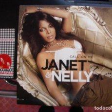 Discos de vinilo: JANET & NELLY- CALL ON ME. JANET JACKSON MAXISINGLE.. Lote 108443971