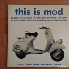 Discos de vinilo: THIS IS MOD: THE CIRCLES, THE NIPS, THE LETTERS, THE CIGARETTES,... (2 LPS). Lote 108456700