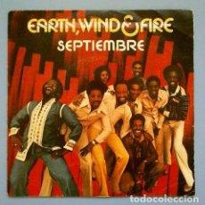 Discos de vinilo: EARTH WIND & FIRE (SINGLE 1978) SEPTEMBER - SEPTIEMBRE. Lote 108514035