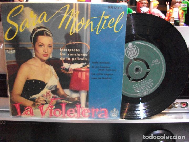 SARA MONTIEL LA VIOLETERA - BSO EP SPAIN PDELUXE (Música - Discos de Vinilo - EPs - Bandas Sonoras y Actores)