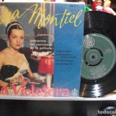 Discos de vinilo: SARA MONTIEL LA VIOLETERA - BSO EP SPAIN PDELUXE. Lote 108536275