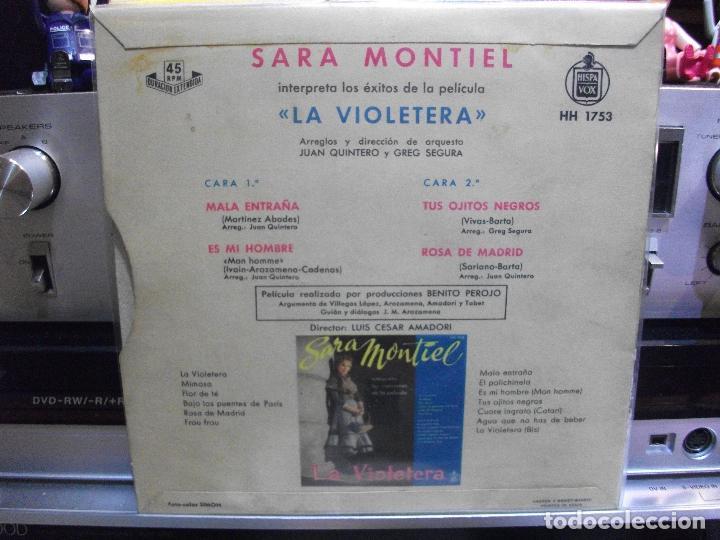 Discos de vinilo: SARA MONTIEL LA VIOLETERA - BSO ep SPAIN PDELUXE - Foto 2 - 108536275