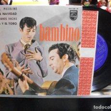Discos de vinilo: BAMBINO BAMBINO PICCOLINO + 3 EP SPAIN 1964 PDELUXE. Lote 108596239