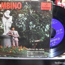 Discos de vinilo: BAMBINO INFIERNO DE CELOS EP SPAIN 1967 PDELUXE. Lote 108600963