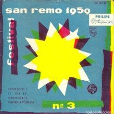 Discos de vinilo: FESTIVAL SAN REMOS 1959 (Nº3) 4 CANCIONES VINILO CONOSCERTI - LI PER LI - SIEMPRE CON TE-AVEVAMO LA. Lote 108670267