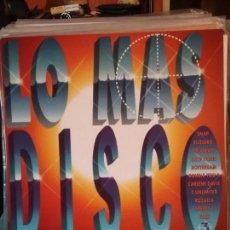 Discos de vinilo: VARIOUS ?– LO MAS DISCO 3. Lote 108699435