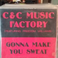 Discos de vinilo: C & C MUSIC FACTORY* FEATURING FREEDOM WILLIAMS ?– GONNA MAKE YOU SWEAT (EVERYBODY DANCE NOW). Lote 108700343