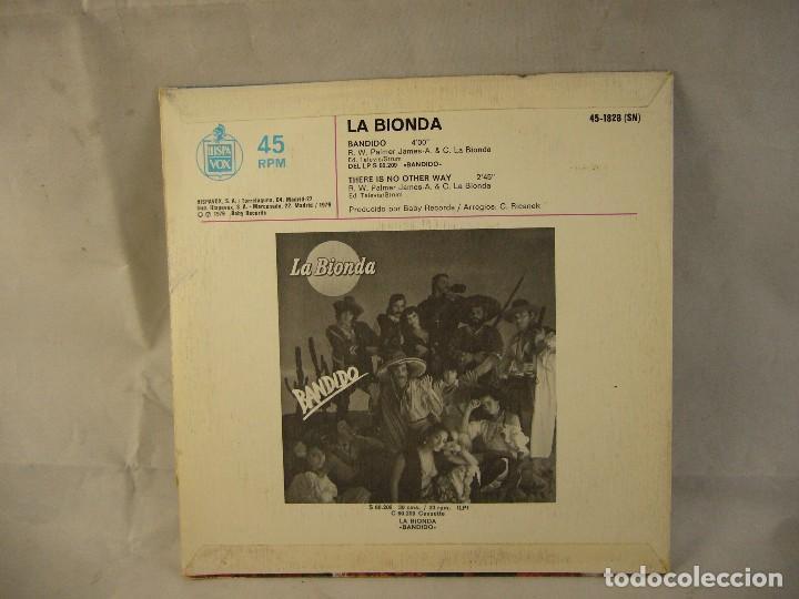Discos de vinilo: LA BIONDA / BANDIDO (LP HISPAVOX DE 1979) - Foto 4 - 108708947