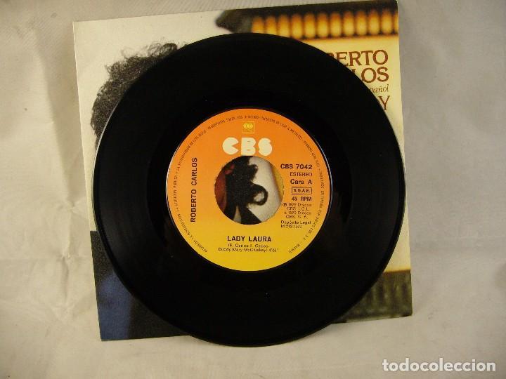 Discos de vinilo: ROBERTO CARLOS-LADY LAURA - Foto 2 - 108709219
