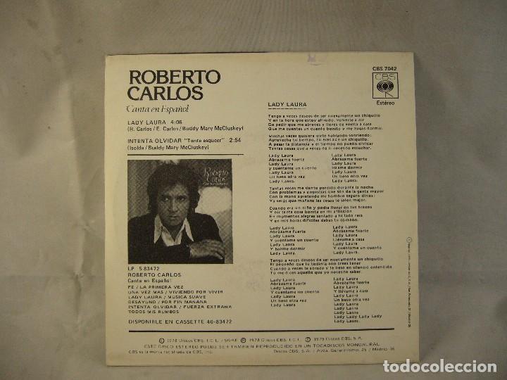 Discos de vinilo: ROBERTO CARLOS-LADY LAURA - Foto 4 - 108709219