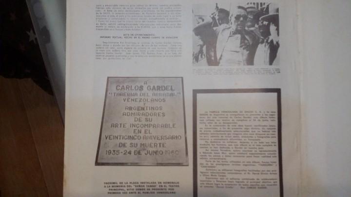 Discos de vinilo: 3 Lp vinilo 1963 Homenaje Carlos Gardel XVIII Aniversario Muerte Edición limitada Fotos y testamento - Foto 12 - 108723483