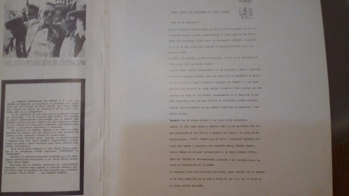 Discos de vinilo: 3 Lp vinilo 1963 Homenaje Carlos Gardel XVIII Aniversario Muerte Edición limitada Fotos y testamento - Foto 13 - 108723483