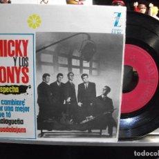 Discos de vinilo: MICKY Y LOS TONYS SOSPECHA + 3 EP SPAIN 1964 PEPETO TOP . Lote 108753847