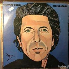 Discos de vinilo: RECENT SONGS. LEONARD COHEN. Lote 108765543