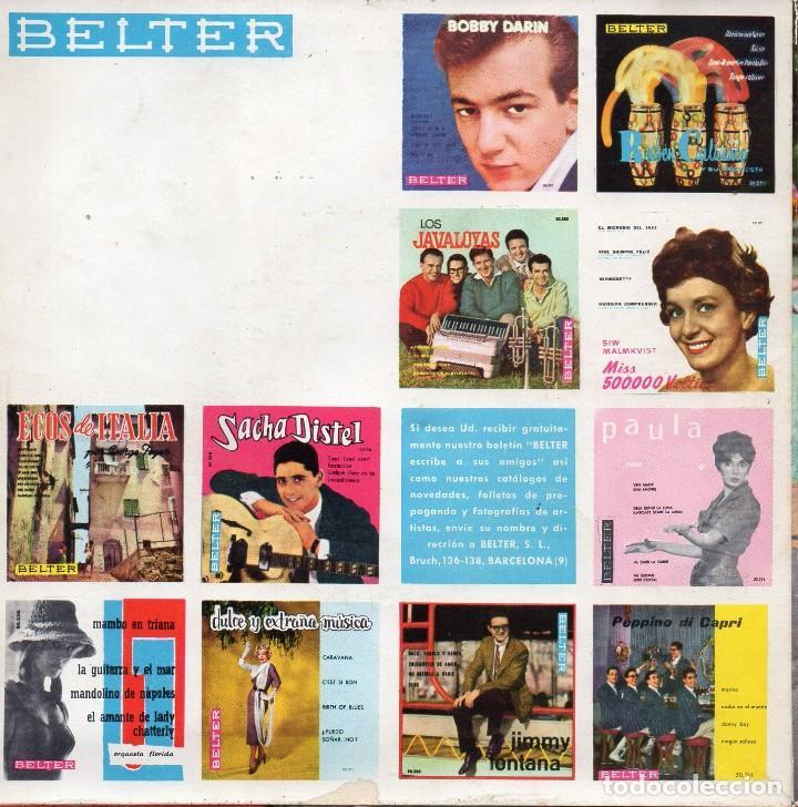 Discos de vinilo: DAVID HARKNESS y su Orquesta, EP, MARTA + 3, AÑO 1961 - Foto 2 - 108773167