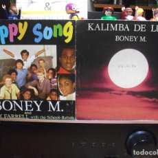 Discos de vinilo: BONEY M. (2) KALIMBA DE LUNA + HAPPY SONG SINGLE SPIAN 1984 PDELUXE. Lote 108792527
