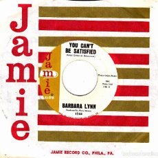 Discos de vinilo: BARBARA LYNN - YOU CAN'T BE SATISFIED + DON'T BE CRUEL SINGLE USA NO COVER. Lote 108798207