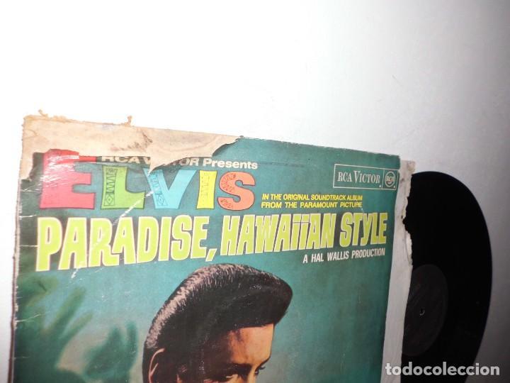 Discos de vinilo: ELVIS PRESLEY-PARADISE,HAWAIIAN STYLE- RCA VICTOR MADRID- RCA- 1972- 1987 - Foto 2 - 108799283
