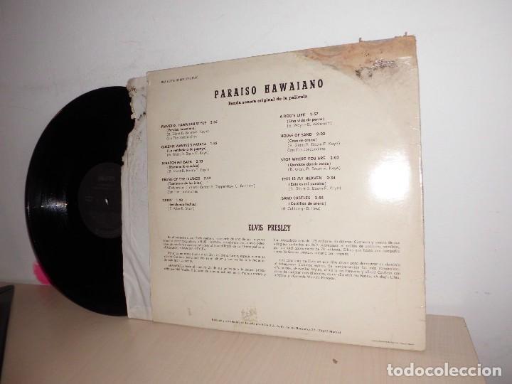 Discos de vinilo: ELVIS PRESLEY-PARADISE,HAWAIIAN STYLE- RCA VICTOR MADRID- RCA- 1972- 1987 - Foto 3 - 108799283