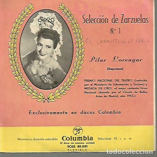 PILAR LORENGAR EP SELLO COLUMBIA EDITADO EN ESPAÑA AÑO 1956 (Música - Discos de Vinilo - EPs - Clásica, Ópera, Zarzuela y Marchas)