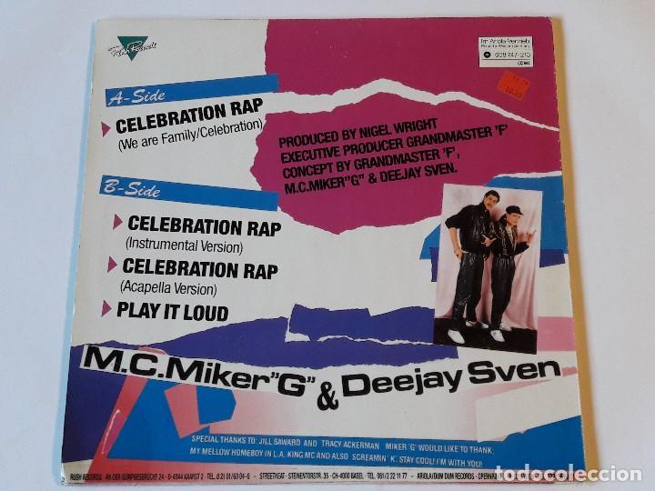 Discos de vinilo: M.C.Miker G & Deejay Sven - Celebration Rap - 1986 - Foto 2 - 108866031