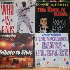 Discos de vinilo: ELVIS PRESLEY - COVER (4) TRIBUTE TO ELVIS + 3 SINGLE SPAIN 1978 PDELUXE. Lote 108866979