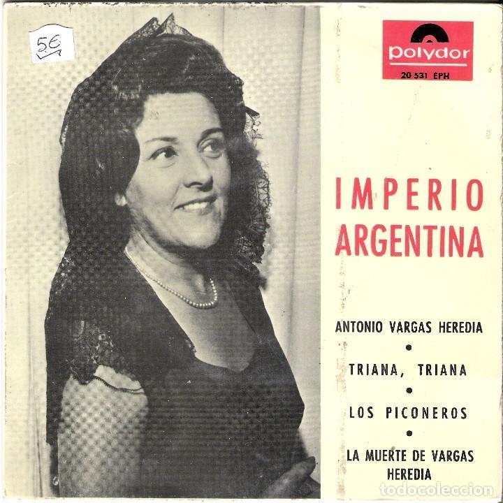 EP 1965 IMPERIO ARGENTINA. ANTONIO VARGAS HEREDIA (Música - Discos de Vinilo - EPs - Otros estilos)