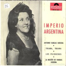 Discos de vinilo: EP 1965 IMPERIO ARGENTINA. ANTONIO VARGAS HEREDIA . Lote 108868287
