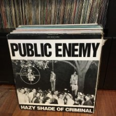 Discos de vinilo: PUBLIC ENEMY. HAZY SHADE OF CRIMINAL. Lote 158300726