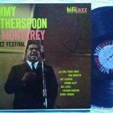 Discos de vinilo: JIMMY WITHERSPOON - '' AT THE MONTEREY JAZZ FESTIVAL '' LP ORIGINAL 1959 USA MONO GRAN COPIA. Lote 108872967