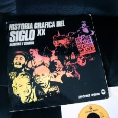Discos de vinilo: HISTORIA GRAFICA SIGLO XX DOSSIER INFORMATIVO SINGLE VOCES MUSICA BEATLES MARILYN MONROE . Lote 108874419