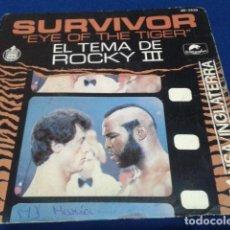 Discos de vinilo: ROCKY III SURVIVOR ( EYE OF THE TIGER ) 1982 HISPAVOX. Lote 108879187
